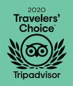TripAdvisor Certificate Travelers' Choice 2020 Valentino Pasta & Grill restaurant.